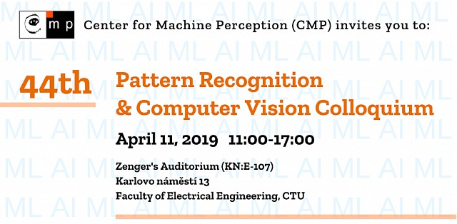 We invite you to the 44th Pattern Recognition & Computer Vision Colloquium